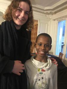 Espérance et son élève Issa (c)DR