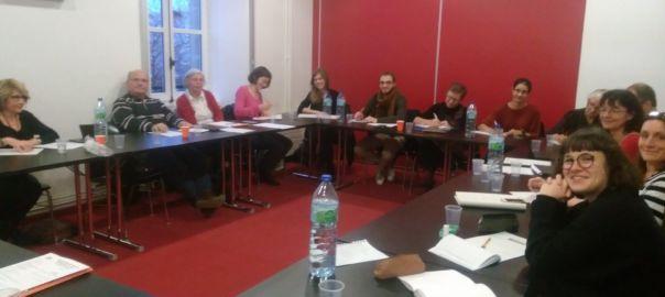Une session de formation des bénévoles